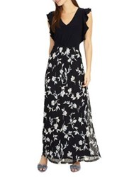 Phase Eight Loretta Floral Lace Maxi Dress Navy