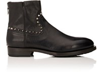 Project Twlv Men's Flame Studded Leather Boots Black