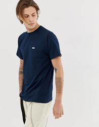 Vans T Shirt With Small Logo In Navy