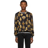 Dolce And Gabbana Black Sacred Heart Sweatshirt