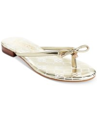Nanette Lepore By Melanie Thongs Only At Macy's Women's Shoes Gold