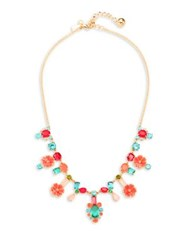 Kate Spade Garden Party Crystal Necklace Gold Multi