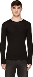 Blk Dnm Black Fine Wool T Shirt