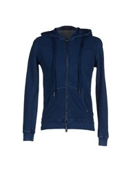 40Weft Topwear Sweatshirts Men Blue