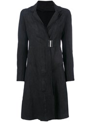 Isaac Sellam Experience Clasp Fastened Fitted Coat Black