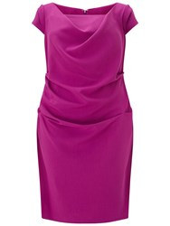 Adrianna Papell Draped Cowl Neck Sheath Dress Deep Berry