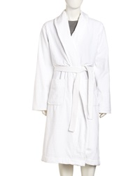 Majestic International Terry Velour Spa Robe White
