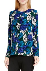 Vince Camuto Women's 'Woodland Floral' Print Ruffle Front Blouse Seaport
