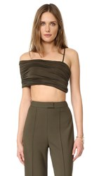 Aq Aq Cedarne Crop Top Military Green