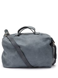 Guidi Plain Shoulder Bag Blue
