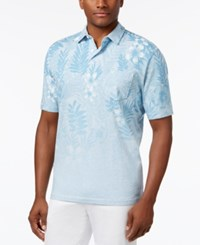 Tommy Bahama Men's Floral Fade Polo Banff Blue Heather