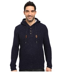 Prana Hooded Henley Sweater Nautical Men's Sweater Multi