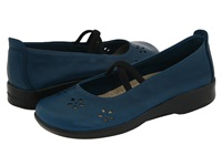 Arcopedico Flower Indigo Leather Women's Maryjane Shoes Blue