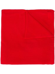 Allude Fine Knit Scarf Red