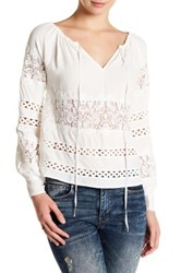 For Love And Lemons Hayley Long Sleeve Blouse White