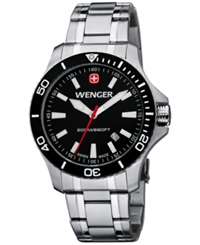 Wenger Men's Swiss Sea Force Stainless Steel Bracelet Watch 43Mm 0641.105