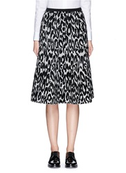 Theory 'Marvita C' Leopard Boucle Jacquard Midi Skirt Animal Print Multi Colour