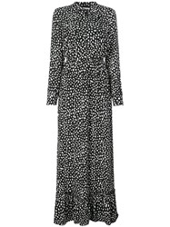Anine Bing Libby Dalmatian Dress Black