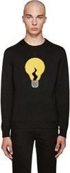 Fendi Black Fur Lightbulb Sweater