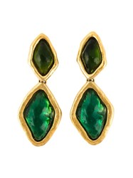 Yves Saint Laurent Vintage Drop Earrings Green