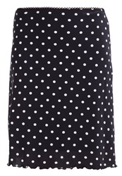 Anna Field Aline Skirt Black White