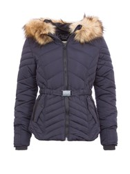 Garcia Quilted Jacket With Hood Navy