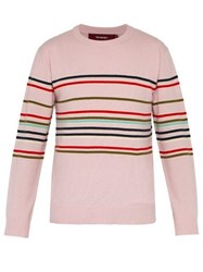 Sies Marjan Vin Stripe Wool And Cashmere Blend Sweater Pink Multi