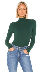 N Philanthropy Brooke Bodysuit In Dark Green. Beetle