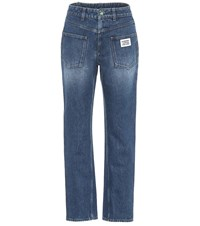 Burberry High Rise Straight Jeans Blue