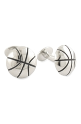 David Donahue 'Basketball' Sterling Silver Cuff Links Silver Basketball