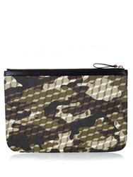 Pierre Hardy Cube And Camouflage Print Coated Canvas Pouch