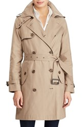 Lauren Ralph Lauren Double Breasted Trench Coat Sand