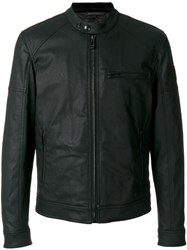 Belstaff Zipped Bomber Jacket Men Cotton Spandex Elastane Acetate Polyester 48 Black