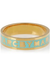 Marc By Marc Jacobs Tiny Gold Tone Enamel Ring Blue