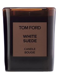 Tom Ford 595Gr Private Blend White Suede Candle Transparent