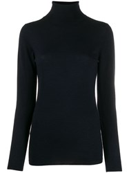 Snobby Sheep Turtle Neck Fitted Sweater Blue