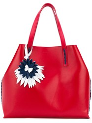 P.A.R.O.S.H. Floral Detail Tote Red
