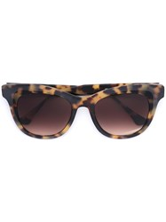 Thierry Lasry Square Frame Sunglasses Nude Neutrals