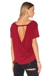 Bobi Slub Jersey Cross Back Tee Red
