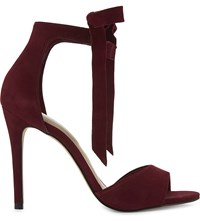 Aldo Belidda Leather Heeled Sandals Bordeau Abarasivato