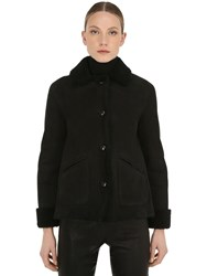 Belstaff Car Suede And Shearling Jacket Black