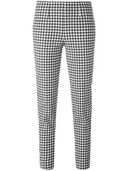 Incotex Checked Cropped Trousers Blue