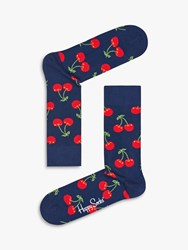 Happy Socks Cherry One Size Navy Red