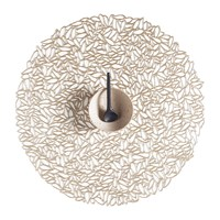 Chilewich Pressed Vinyl Petal Round Placemat Champagne