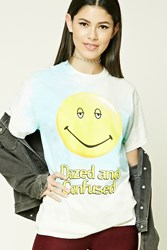 Forever 21 Dazed And Confused Graphic Tee Pink Yellow