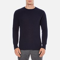 Ymc Men's Suedehead Brushed Jumper Navy Blue