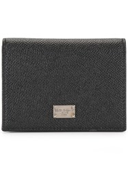 Dolce And Gabbana Dauphine Leather Wallet Black