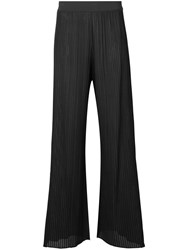 Dusan Flared Ribbed Trousers Grey