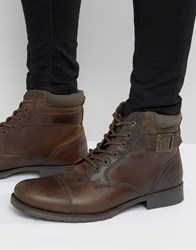Red Tape Lace Up Boots Brown