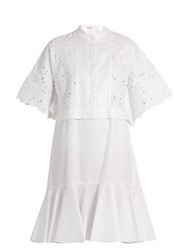 Erdem Kathy Half Placket Broderie Anglaise Dress White